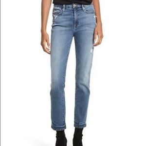Frame Denim Le High Straight Jeans Ankle Cropped